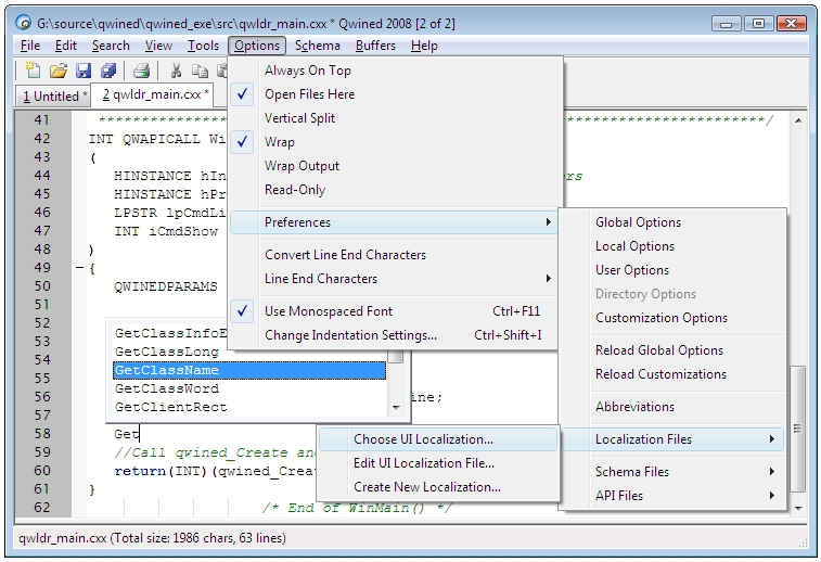 Click to view Qwined Multilingual Technical Editor 2008 screenshot